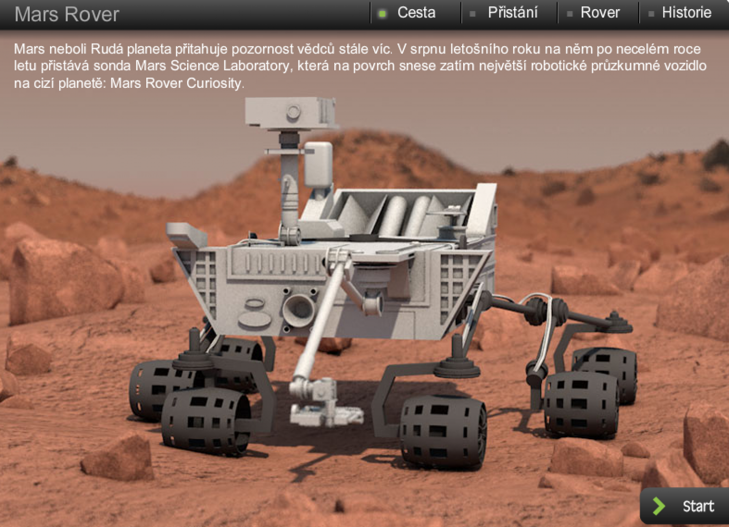 Mars Rover Curiosity Infographic