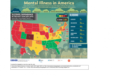 Mental Illness in America Infographic