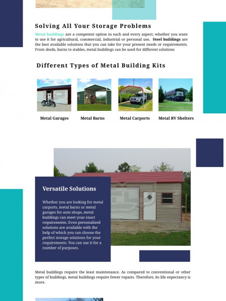 Metal Building Kits – One Fit Solution to All Storage Troubles Infographic