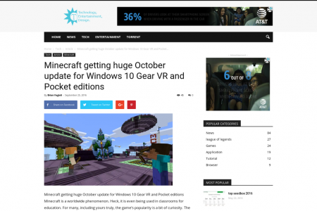 Minecraft getting huge October update for Windows 10 Gear VR and Pocket editions Infographic