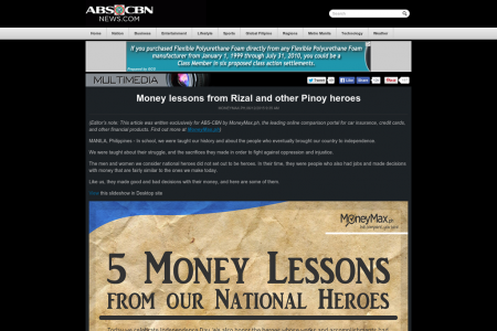 Money Lessons From Our National Heroes Infographic