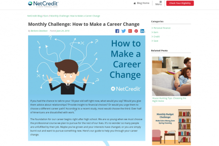 Monthly Challenge: How to Make a Career Change Infographic