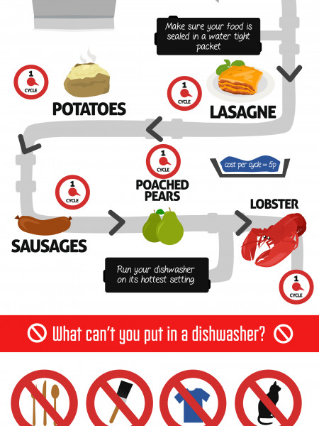 More Than Just The Dishes: What Can You Cook In A Dishwasher Infographic