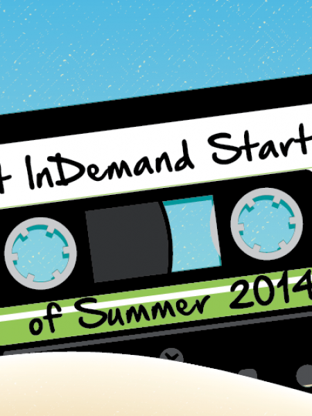 Most Indemand Startups of Summer 2014 Infographic