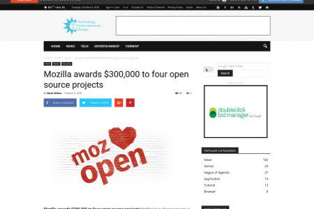 Mozilla awards $300,000 to four open source projects Infographic