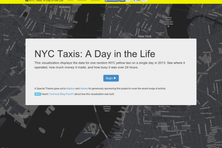 NYC Taxis: A Day in the Life Infographic
