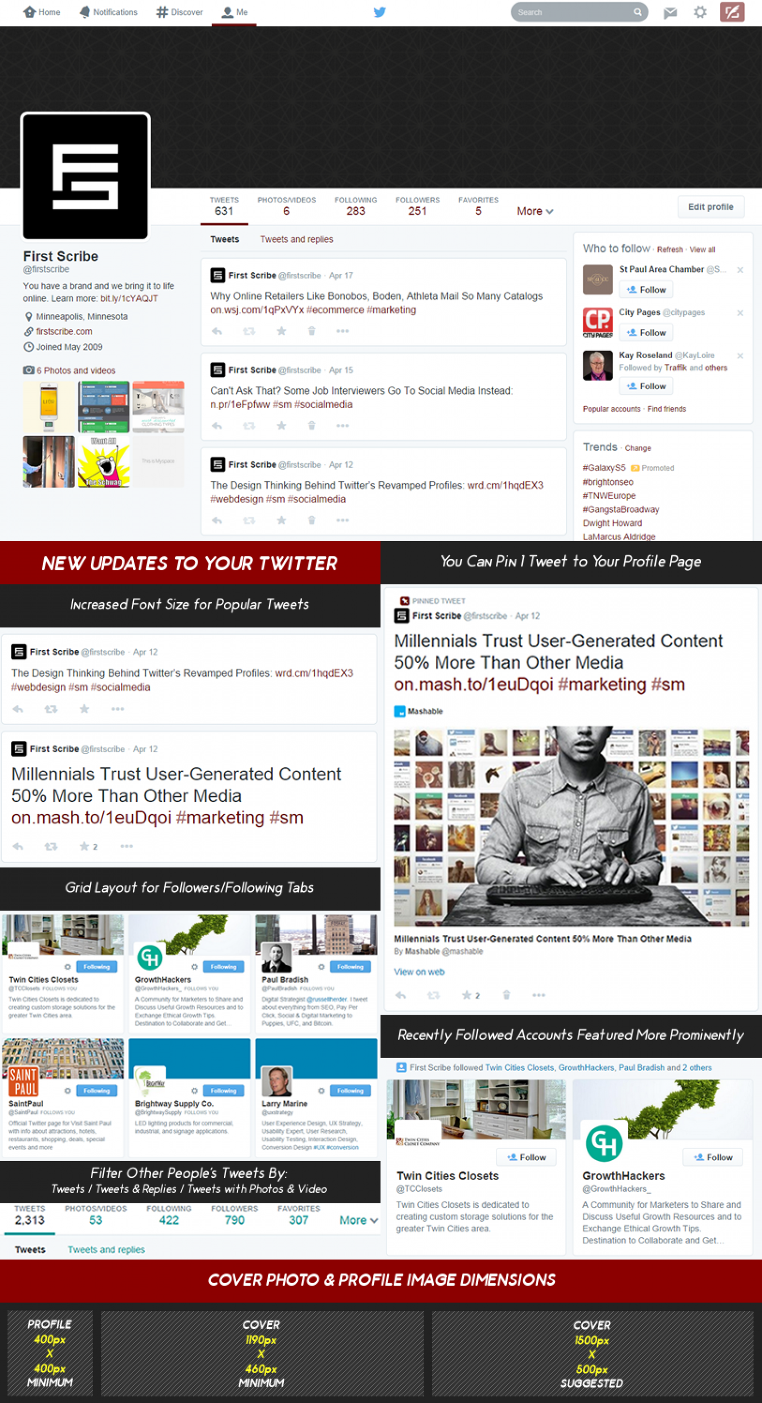 New Twitter Layout Infographic Infographic
