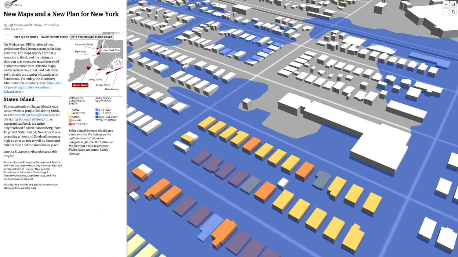 New York Flood Map Infographic