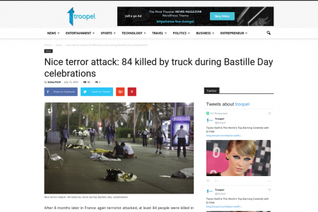 Nice terror attack: 84 killed by truck during Bastille Day celebrations Infographic