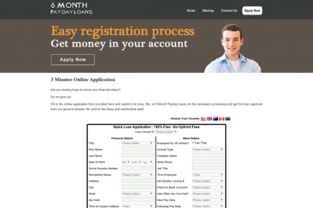 No Upfront Fee Payday Loans Get Money To Rectify Adverse Credit History Infographic