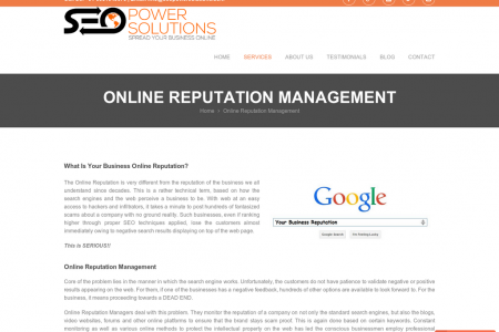 Online Reputation Management by Seopowersolutions.com Infographic