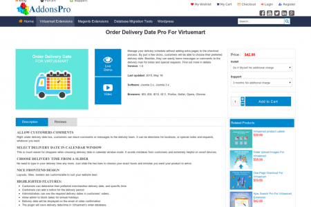 Order Delivery Date Pro For Virtuemart Infographic