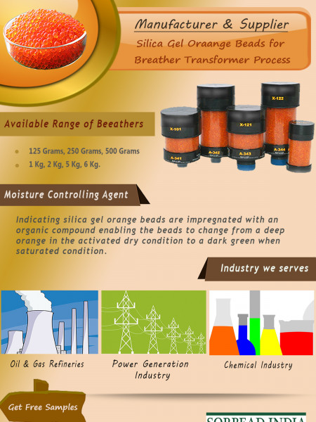 Organic Silica Gel Orange for Breather Transformer Process Infographic