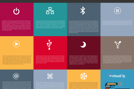 Origins of Common UI Symbols Infographic