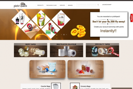 Packaging material online Infographic