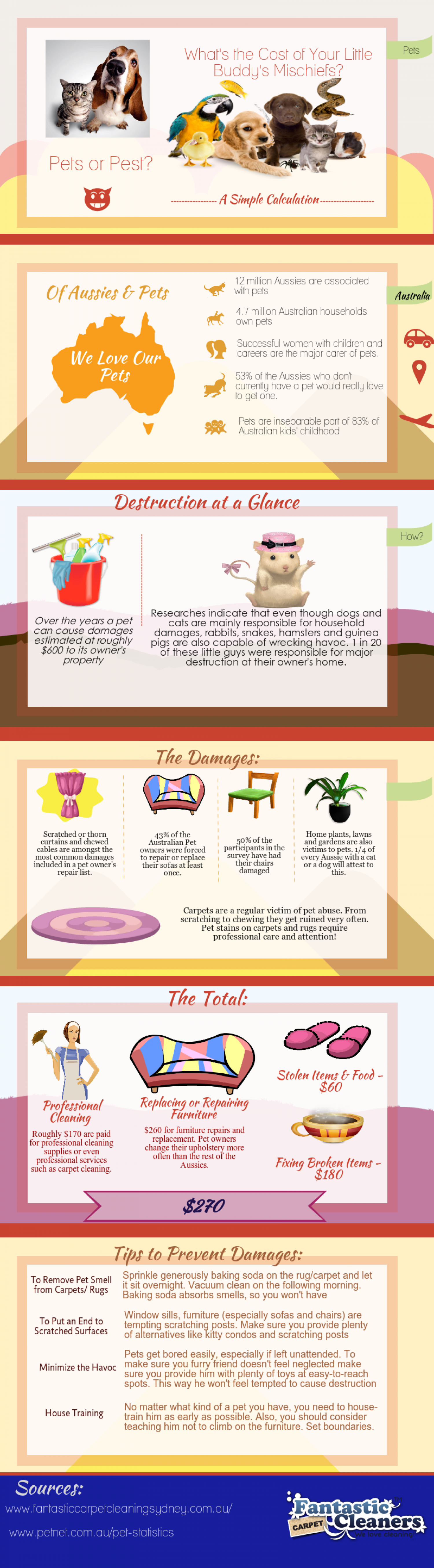 Pet Damages: How Much Your Pet Costs You Infographic