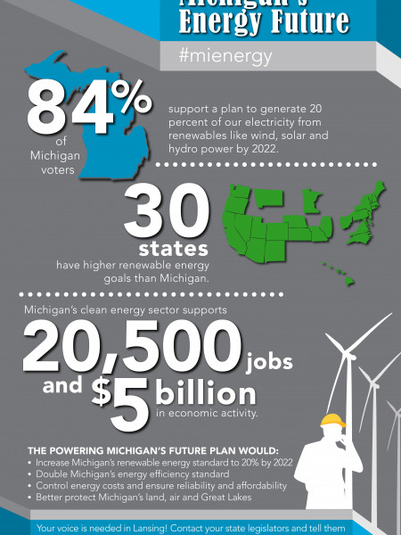 Powering Michigan's Energy Future Infographic