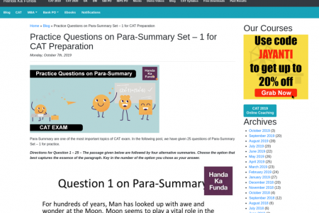 Practice Question on Para-Summary Infographic