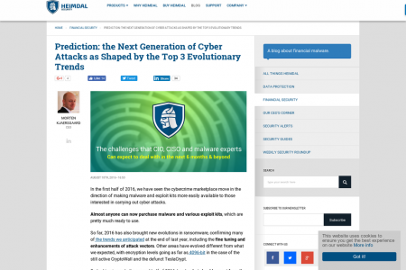 Prediction: the Next Generation of Cyber Attacks as Shaped by the Top 3 Evolutionary Trends Infographic