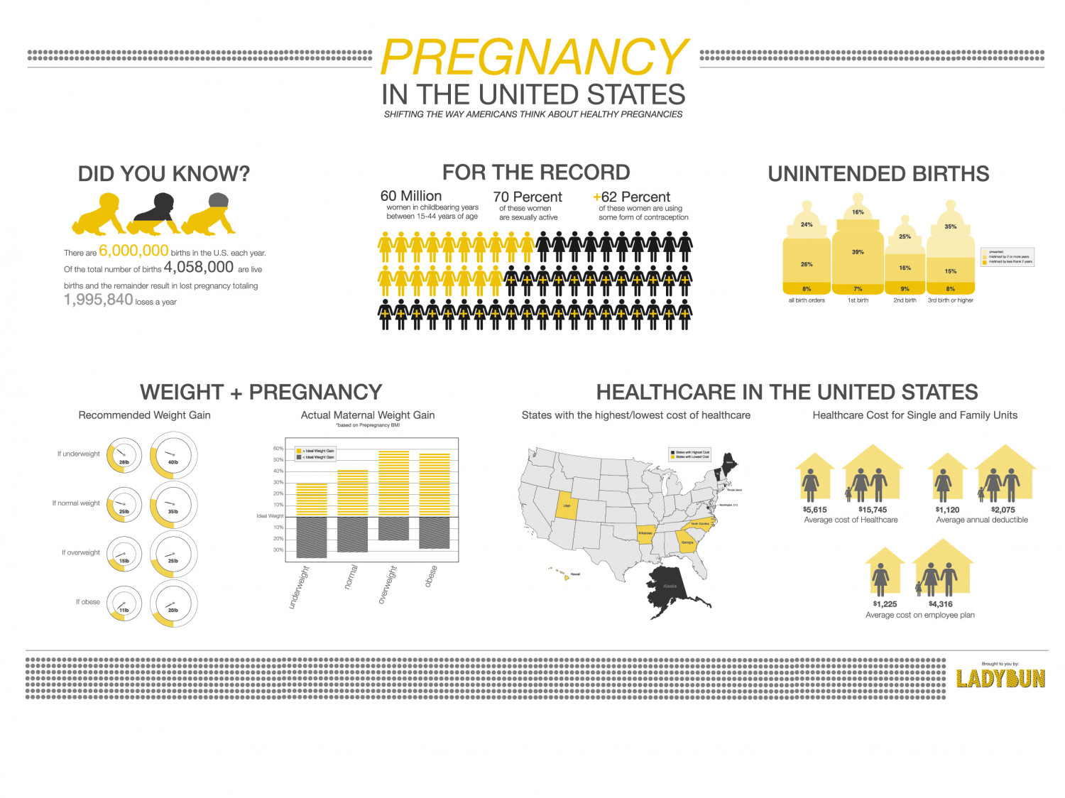 Pregnancy in the US  Infographic