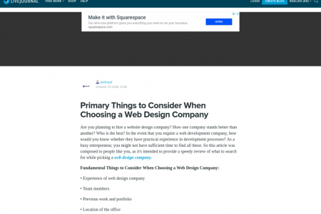 Primary Things to Consider When Choosing a Web Design Company Infographic