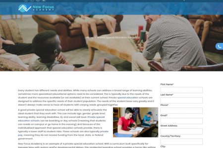 Private Special Education Schools - New Focus Academy Infographic