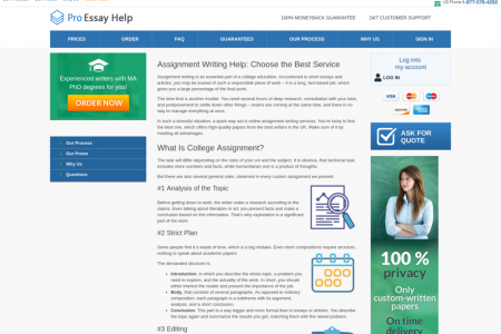 ProEssayHelp - Assignment Writing Help: Choose the Best Service Infographic