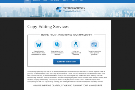Professional Copy Editing Services Infographic