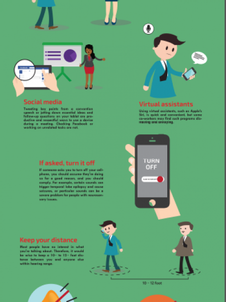 Proper Business Etiquette for Using Mobile Devices Infographic
