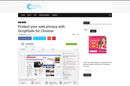 Protect your web privacy with ScriptSafe for Chrome Infographic