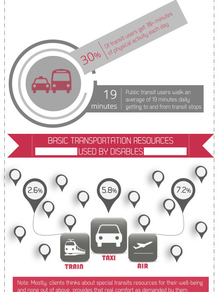 Public issues about available public transportation... Infographic