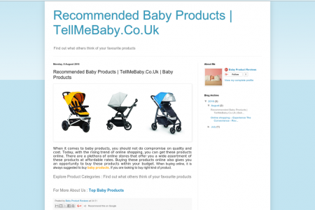 Recommended Baby Products | TellMeBaby.Co.Uk Infographic