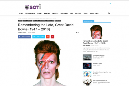 Remembering the Late, Great David Bowie (1947 – 2016) Infographic