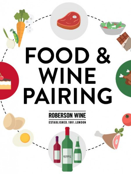 Roberson Wine- Food and Wine Pairing Infographic