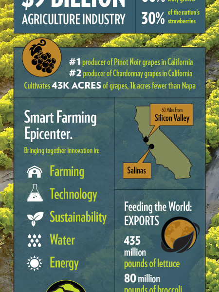 Salinas, California: The World's AgTech Hub Infographic