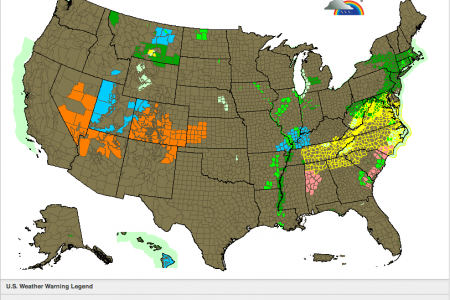 Severe Weather Warning Map Infographic