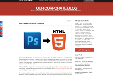Smart Tips for PSD To HTML Conversion Infographic