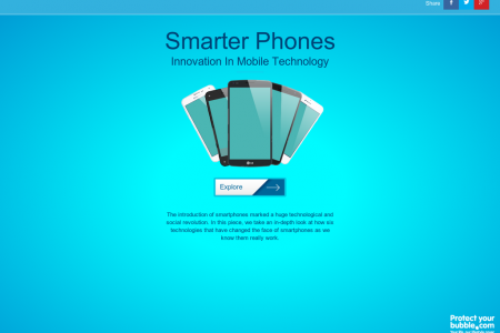 Smarter Phones: Innovation in Mobile Technology Infographic