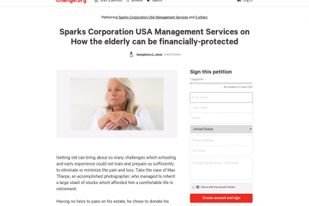 Sparks Corporation USA Management Services on How the elderly can be financially-protected Infographic