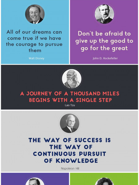 These success quotes will inspire you to be successful Infographic