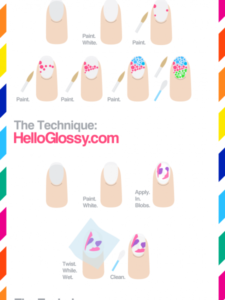 Superdry Festival Nail Style How to Guide Infographic