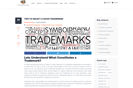 TIPS TO SELECT A GOOD TRADEMARK Infographic