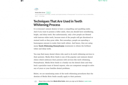 Techniques That Are Used in Teeth Whitening Process Infographic