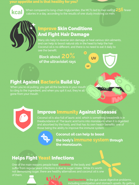The 12 Health Benefits Of Coconut Oil Infographic