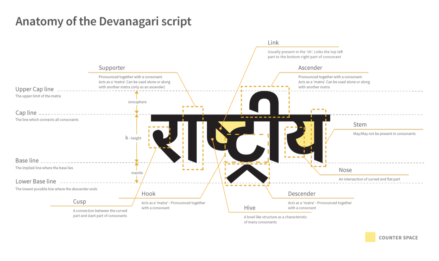The Anatomy of Devanagari Infographic