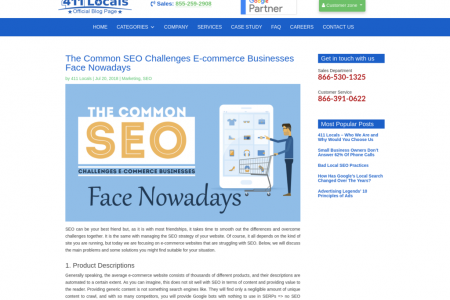 The Common SEO Challenges E-commerce Businesses Face Nowadays Infographic