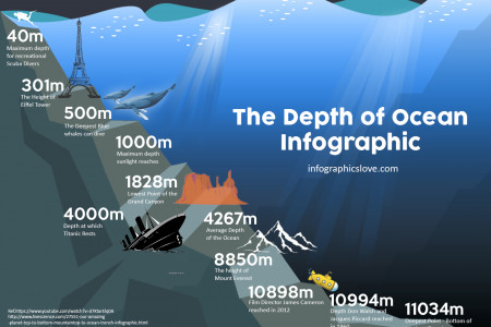 The Depth of Ocean Infographic