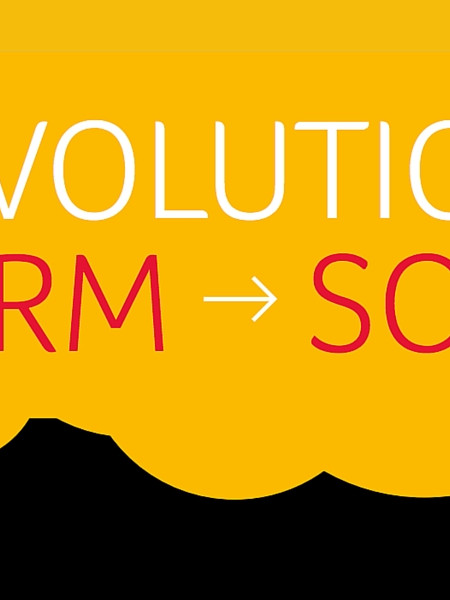 The Evolution of CRM to sCRM Infographic