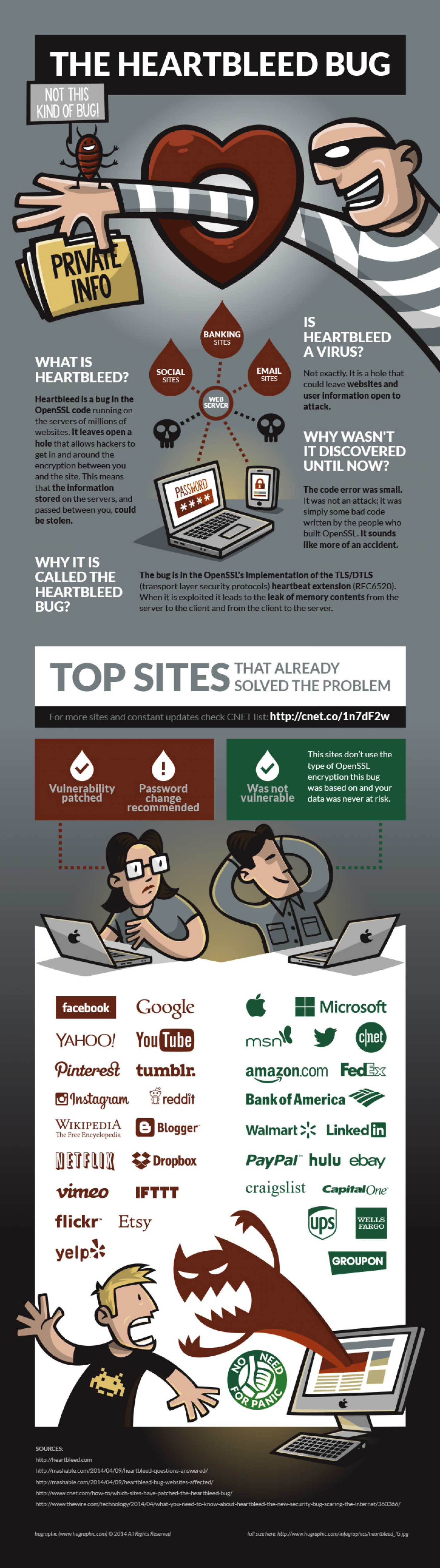 The Heartbleed Bug Infographic