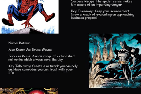 The Lessons in Business to Learn From the Superheroes Infographic